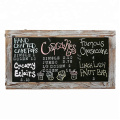 Small Wooden Bar Chalkboard 25 x 13 Inch Torched Wood Finish Framed Chalkboard, Erasable Message Board