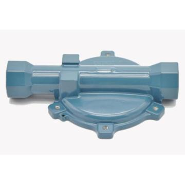 Natural gas pressure reducing valve housing