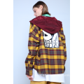 FLANNEL CHECK HOODED OVERSHIRT
