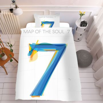 kpop Quilts Bangtan Boys map of the soul 7 bedspread set Summer Three-piece quilt cover /Sheets/Pillowcase