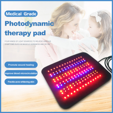 Multicolor infrared led pad red light therapy pad