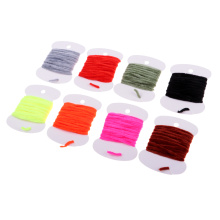 Cotton Thread Fly Tying Body Materials Rayon Chenille Yarn 2mm Small 8 Colors 2m Replacement Tackles for Fishing Lovers