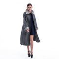 New styles long pure cashmere winter coat