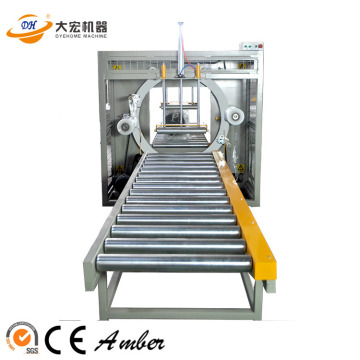 Orbital stretch wrapping machine for aluminum profile