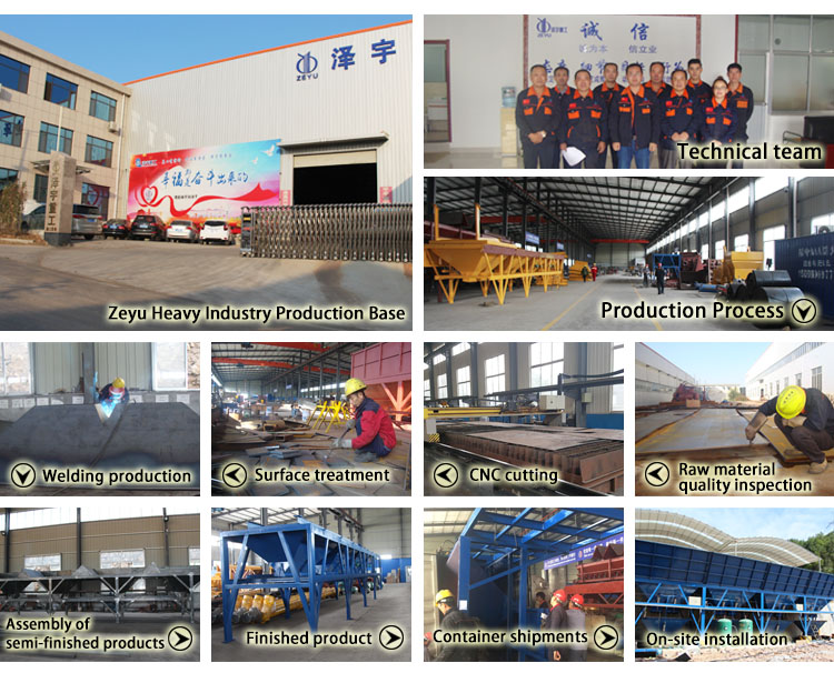 precast concrete batching plant equipment