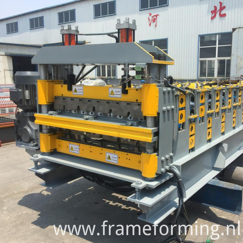 double layer roofing tile making machine 8