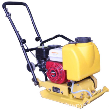 Walking behind gasoline drive vibrating plate compactor