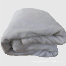 flannel fleece fabric white blanket for printing