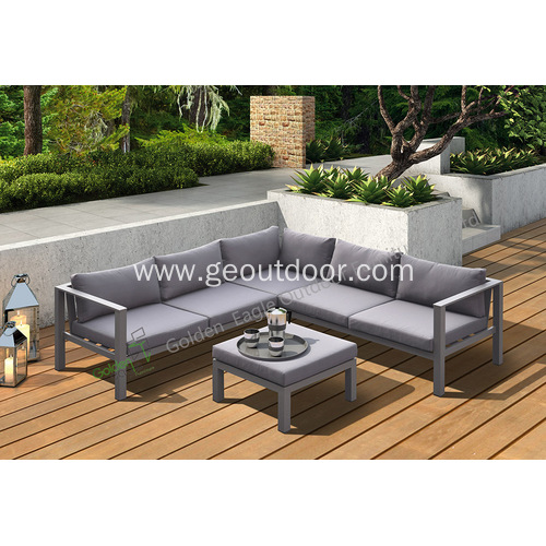 4pcs exposed aluminum garden sofa