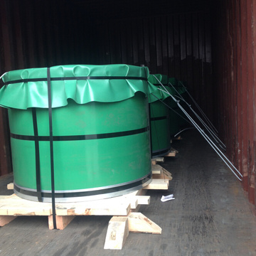 tinplate coils loading in container