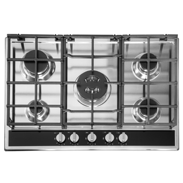Ariston Hotpoint Stove 5 Burner Stainless Steel