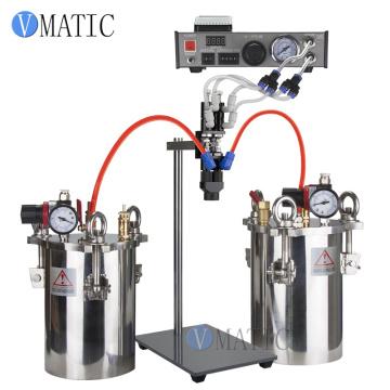 Free Shipping Semi Auto Glue Dispenser AB Mixing Doming Liquid Glue Dispensing Machine Equipment for LED Light DIY LCD Sticker