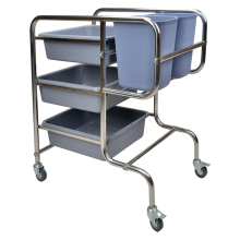 Stainless Steel Round Tube Collecting Cart