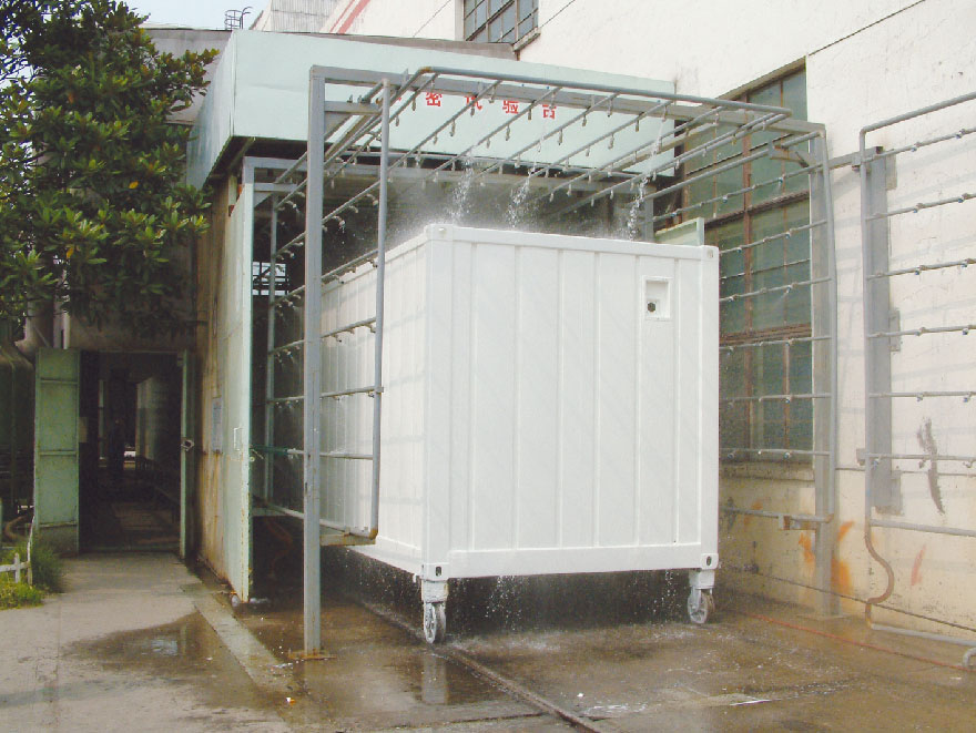 water tightness test for Modular Family House Container Type