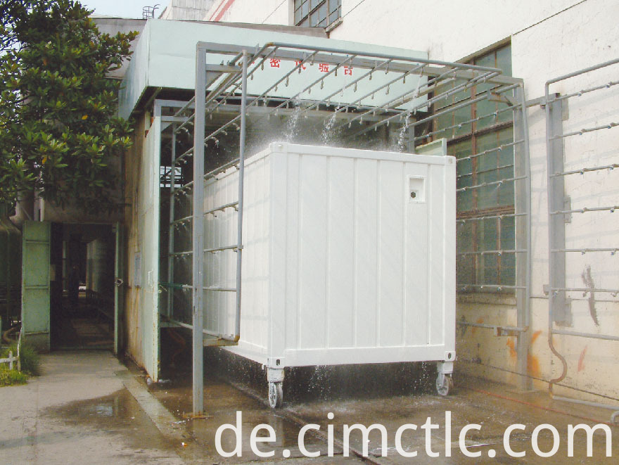 water tightness test for Modular Laundry Container Type