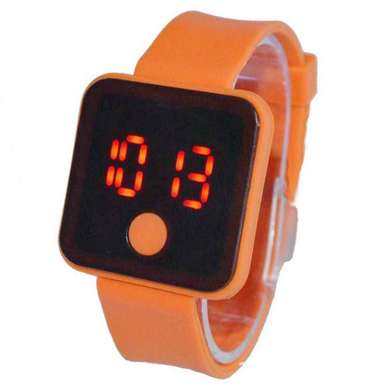 Children Rubber Digital Silicone Led Watch For Sports