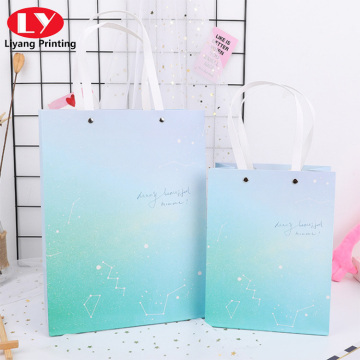 Gradient sky colorful paper handbag for gift