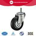 3'' Threaded Stem Swivel Rubber Iron Core Industrial Caster