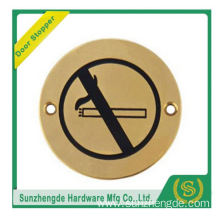 BTB SSP-006SS Warning Pull And Glass Push Door Sign Plate