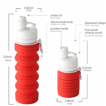 Silicone Collapsible Drink Water Sports Bottle