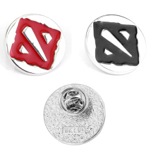 2019 New Brooch DOTA 2 Flag Logo Red / Black Brooch Metal Alloy Pin Game Brooches For Game Fans Badges Game Pins Accessories