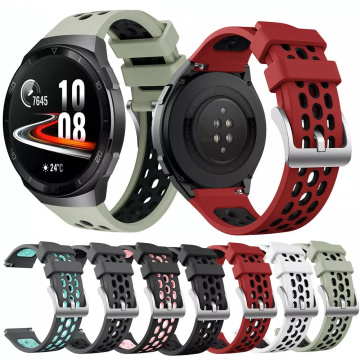 Sport Silicone Watch Strap For Huawei watch GT 2e SmartWatch band Replacement for Huawei GT2e gt2 e WristBand 22mm Bracelet belt