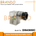 DIN 43650C White Clear  Solenoid Coil Connector