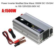 Protable DC 12V/24V to AC100-120V/220-240V Car Power Inverter Cigarette Lighter Plug Universal Vehicle Power Converter For Car