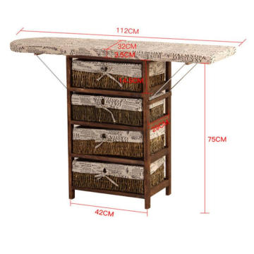 wholesale ironing board solid wood ironing storage cabinet with wheels
