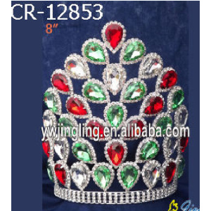 "8"" Chunky Water Drop Rhinestone Big Tiaras"