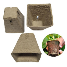 50pcs/set Square Seed Nursery Pots Plant Starter Peat Flower Vegetable Seedlings Nursery Cup Paper Trays Garden Supplies 6CM 8CM