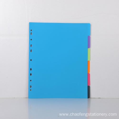 Color environmental separation page Tab Dividers