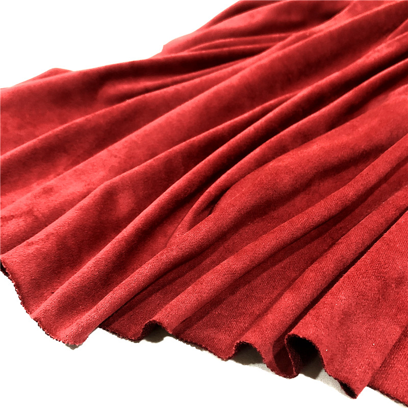 GREAT QUALITY POLYESTER SUEDE PLAIN DYED