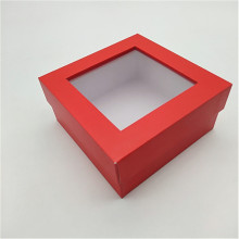 Two-Piece Paper Gift box with Clear Window Display
