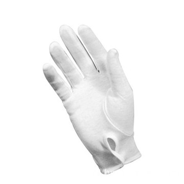 White Cotton Glove Police Parade Glove