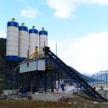 JS fixed HZS180 concrete batching plant view