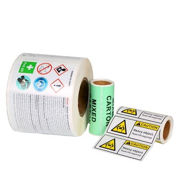Custom vinyl self adhesive PVC packaging warning labels