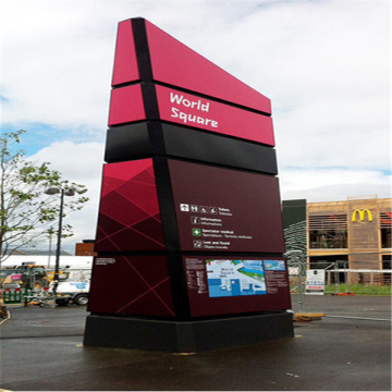 Exterior Customized Advertising Pylon Signs