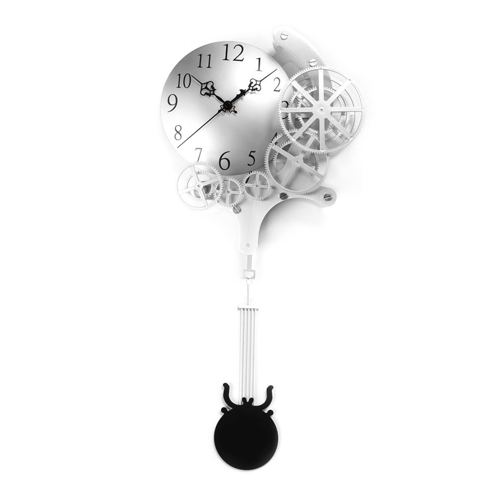 wrought iron pendulum clock