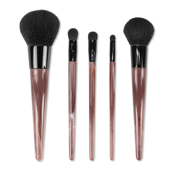 Brown Simulated Marble Handle Professional Makeup Brushes