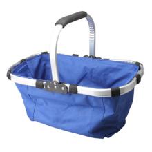 Foldable Eco Shopping Basket Carry Bag Folding Aluminium Frame Collapsible Organization Storage Basket Mayitr