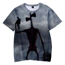 Popular Siren Head Print Children T-shirts Summer Short Sleeve Fashion T shirts Casual Cool Streetwear Boys/Girls T shirts