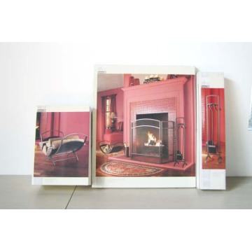 Basic Folding Fireplace Screen