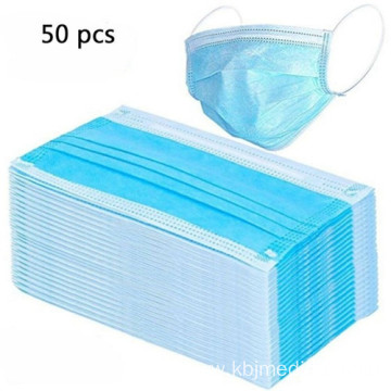 50 Pack 3 Ply Disposable Protective Face Masks