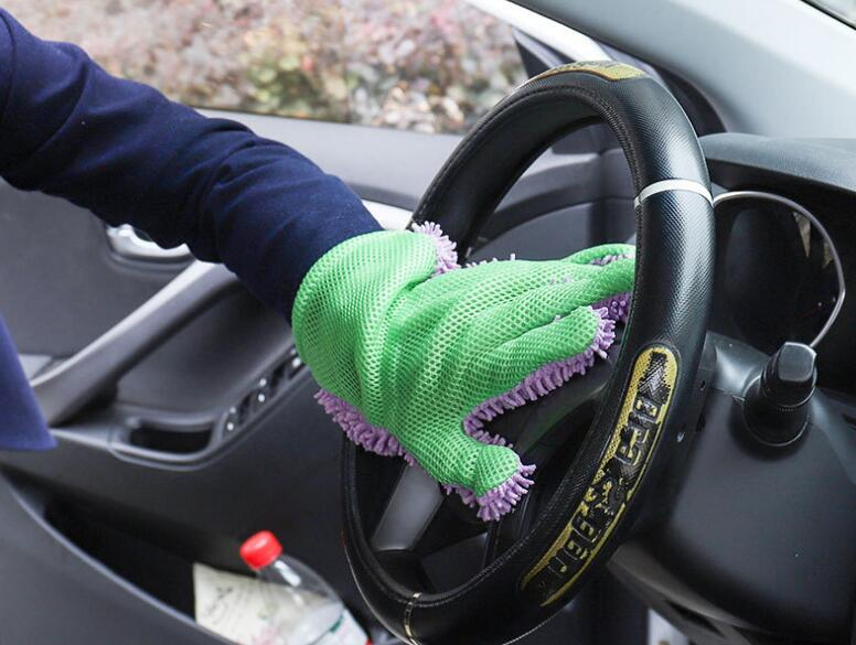 Car Washing Glove In Chenille Material