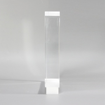 Square acrylic headphone stand display