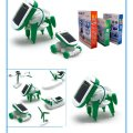 6 IN 1 Solar Robot Model Kit Science Toys for Children DIY Assemble Airplane Boat Car Train Model Educational Christmas Gifts