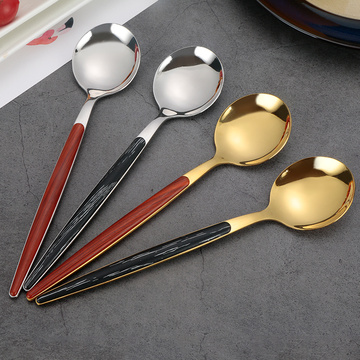 Stainless Steel Flatware royal plastic handle flatware set