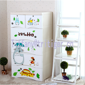 3 4 5 layers baby colorful design plastic storage wardrobe