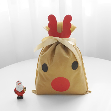 Christmas Reindeer Small Non-woven Gift Bag Craft Kit